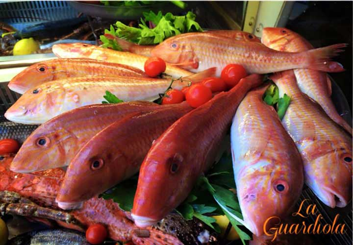 Photo fresh fish Restaurant La Guardiola Castelsardo