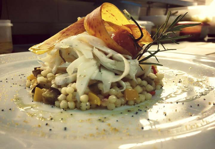 Photo fish dish castellanese tradition